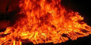 Požár - tříděný odpad