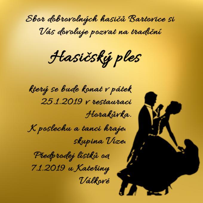 Ples SDH Bartovice 2019